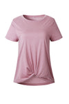 Basics Essential Pure Color Knotted Tee - 3 Colors