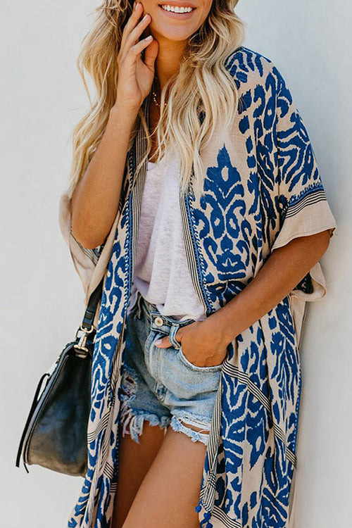 Seaside Retreat Boho Print Kimono - 4 Colors