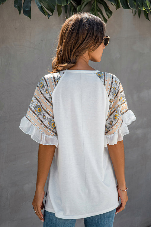 Forever Favorite Boho Printed Sleeve Top - 2 Colors