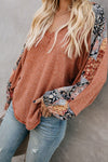 Love Comfort Exotic Chiffon Sleeve Knit Blouse - 4 Colors