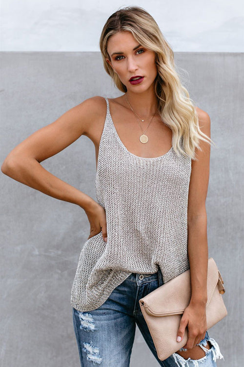 Taking it Easy Striped Knit Tank Top - 5 Colors