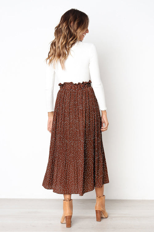Keep Loving Pleated Print Pocket Maxi Skirt - 7 Colors