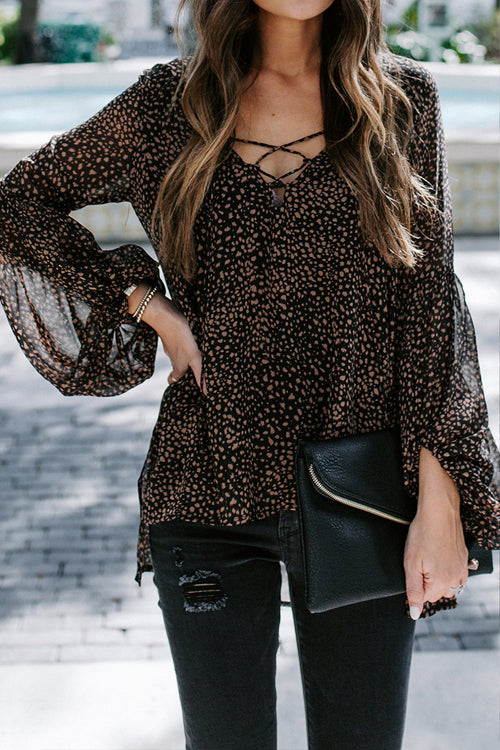 Love On Me Leopard Print Balloon Sleeve Top - 3 Colors