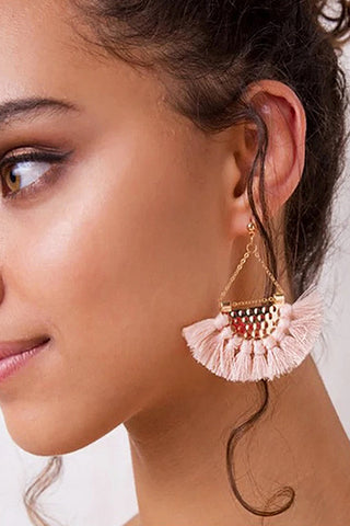 Exaggerated Metallic Ring Earring