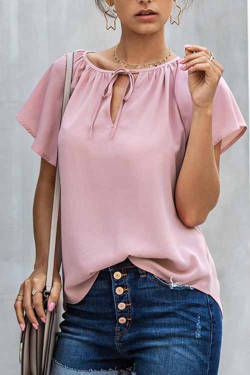 Sweet Like Me Ruffle Short Sleeve Top - 4 Colors