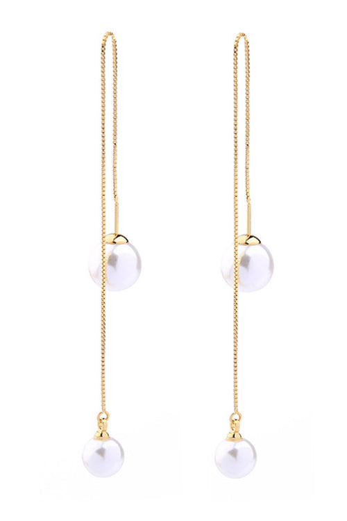 Pearl Pendant Earrings