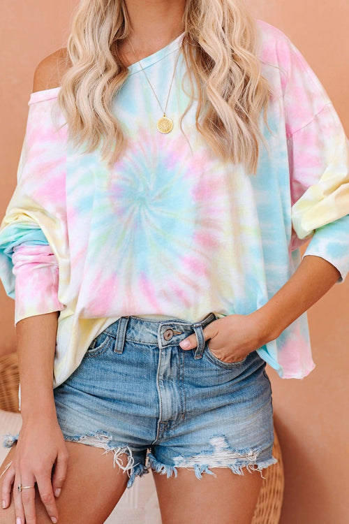 Good Luck Tie-Dye Long Sleeve Top
