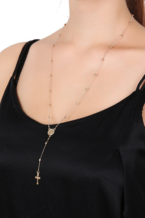 Cross Layer Chain Necklace