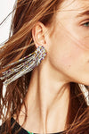 Crystal Tassel Hanging Earrings