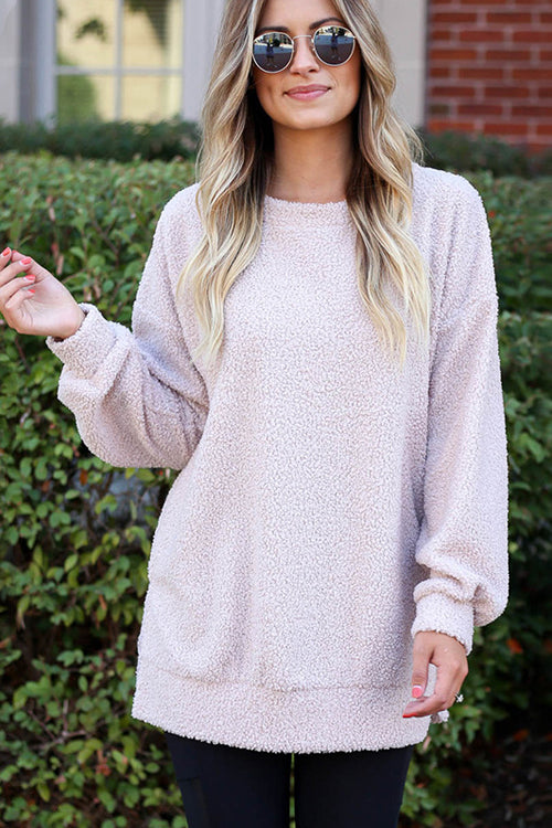 Warming Up Fluffy Long Sleeve Top - 2 Colors