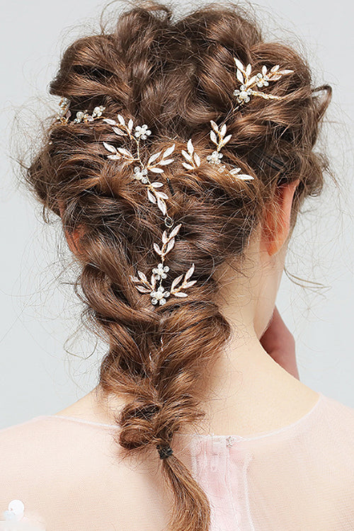 Crystal Floral Hairband&Hairpins