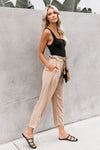 Sleek Moves Khaki Waist Pants