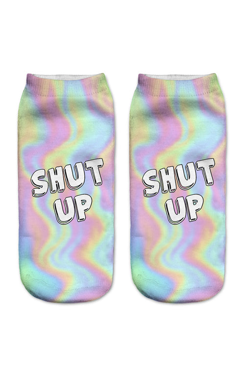 ''Shut Up'' Colorful Socks