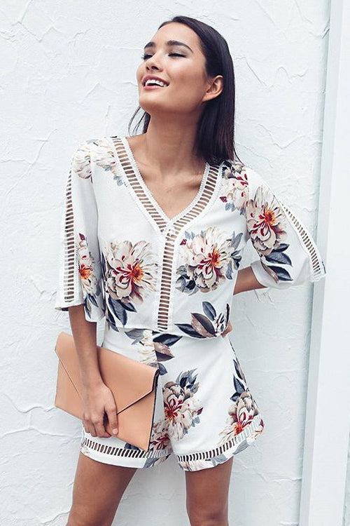 Boho Print Vacation Suit