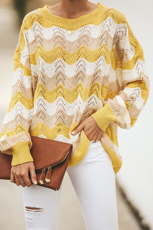 You Are My Sunshine Bright Yellow Stripe Sweater