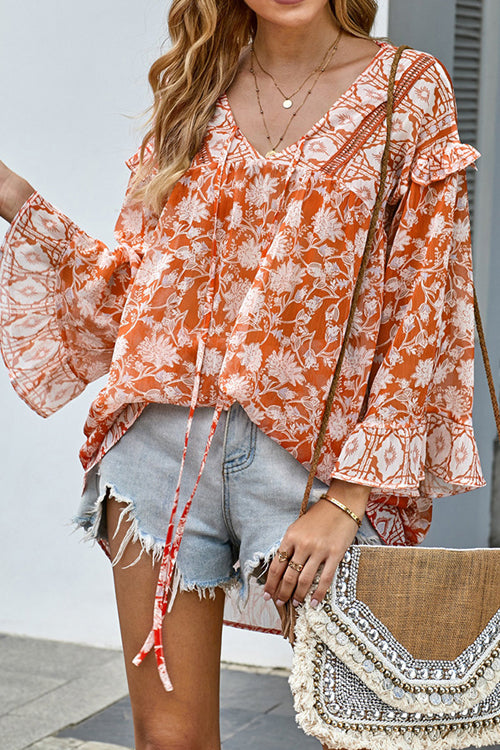 Fall In Love Printed Long Sleeve Top