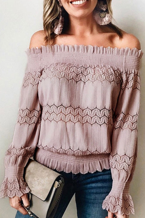 Cherished Memories Off Shoulder Lace Top