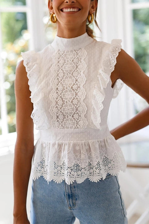 Love You Like That Lace Backless Top