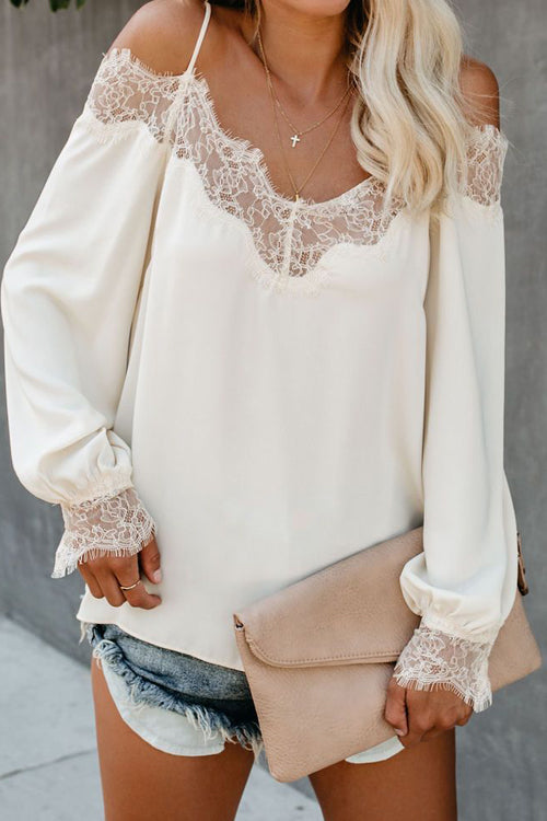 Nearness of You Lace Off Shoulder Top - 2 Colors