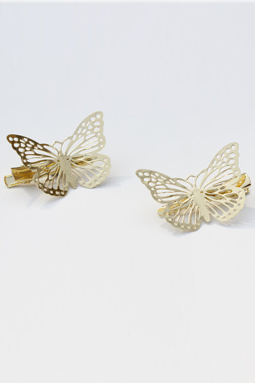 Metallic Butterfly Hair Ornament