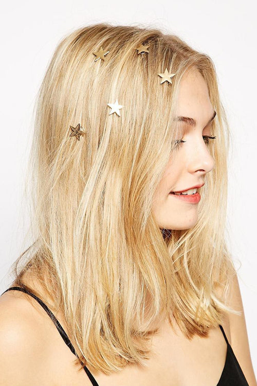 Metallic Star Hair Ornament