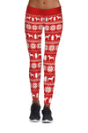 Christmas Snowflake Print Sports Pants