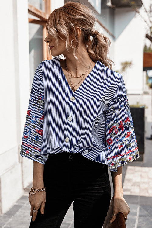 Moments Of You Floral Embroidery Top - 3 Colors