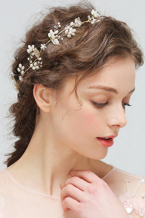 Pearl Diamond Hair Band&Hairpin