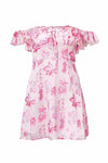 Cherry Blossom Tie-back Chiffon Dress - 2 Colors