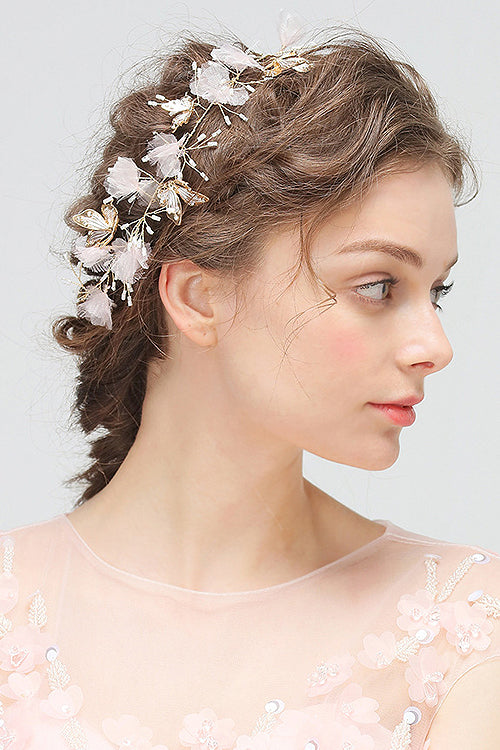 Butterfly Flower Bride Hair Ornament