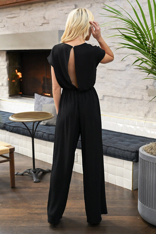 Divine Time V-neck Wide Leg Jumpsuit - 3 Colors