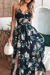 Garden Explorer Floral Print Backless Maxi Dress