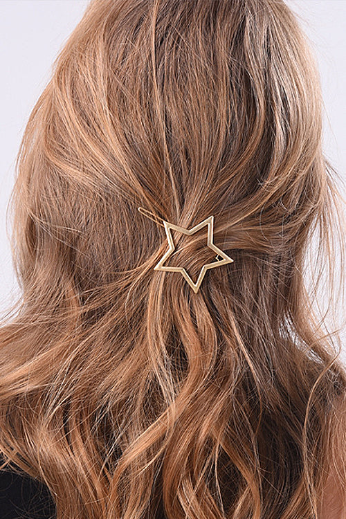 Golden Star&Heart Hairpin