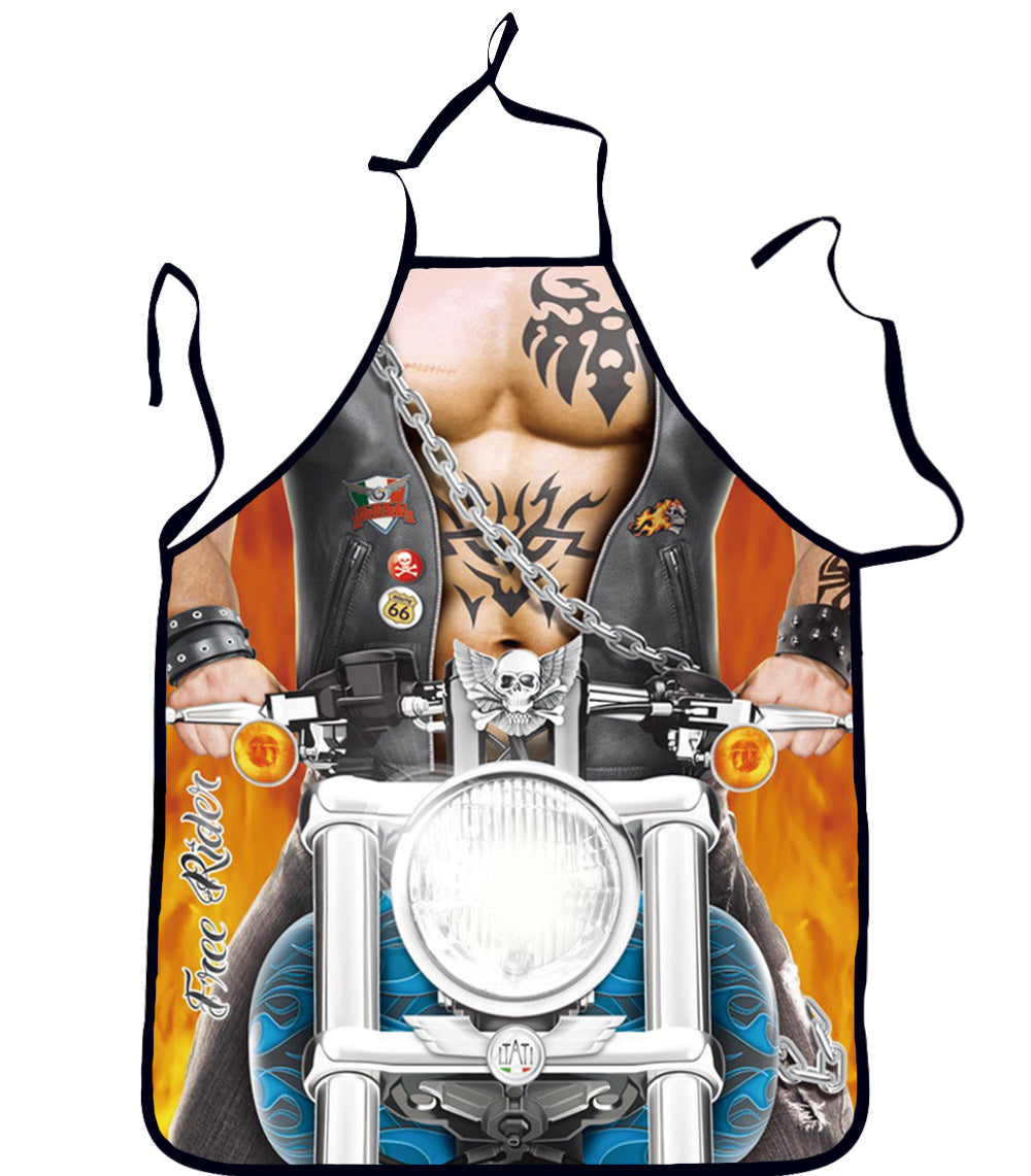 Muscular Man Cook Apron