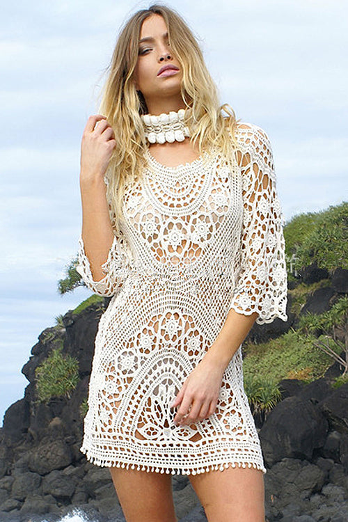Lace Hollow-out Bikini Dress