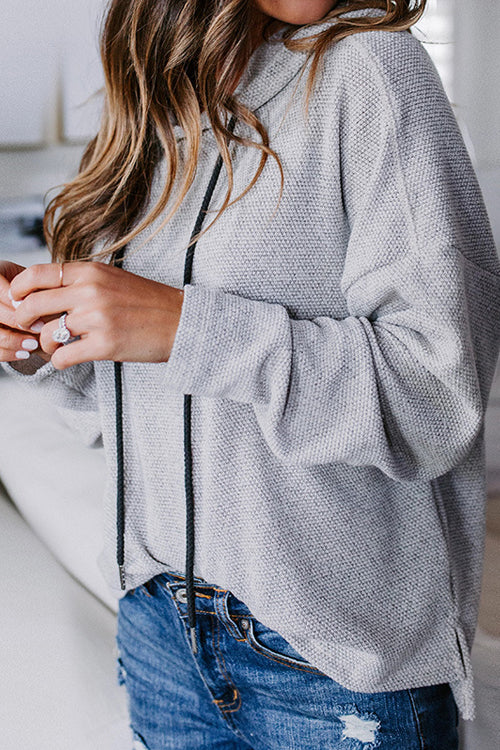 Sweet Love of Mine Grey Knit Pullover