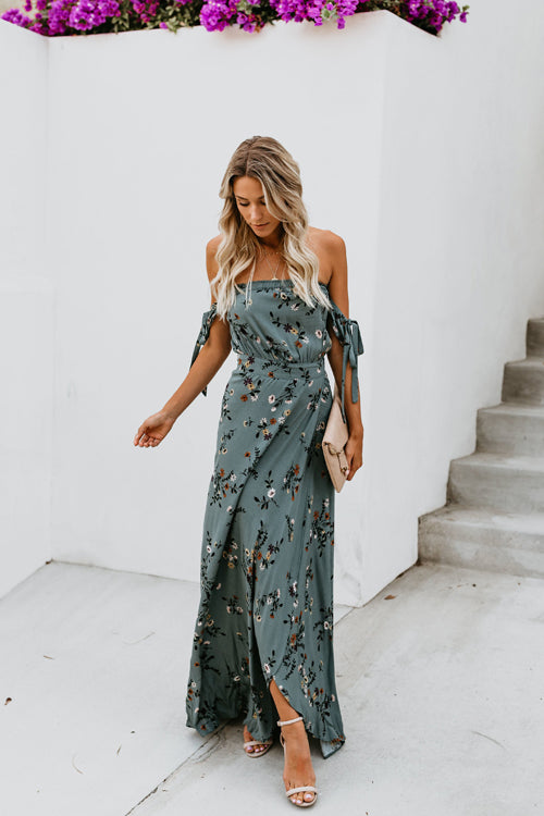 Bloomfield Green Floral Print Maxi Dress