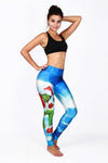 Christmas Sky Print Yoga Pants