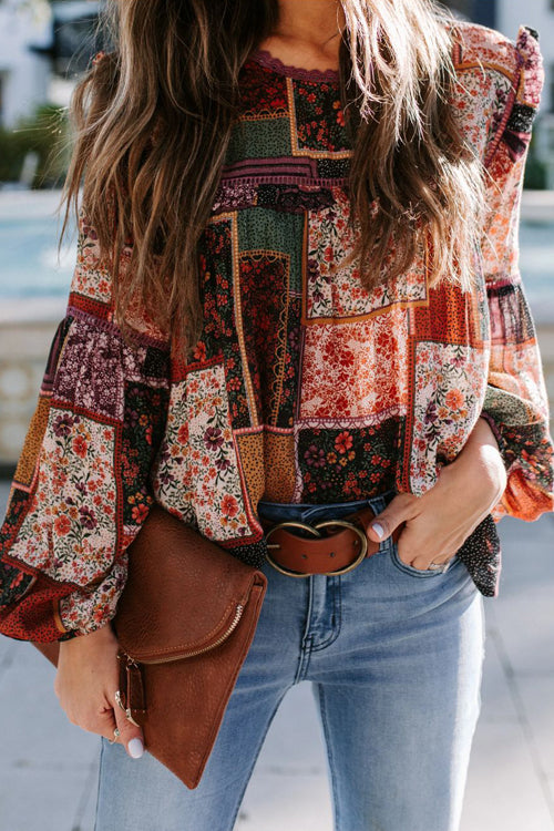 Love In The Garden Boho Print Top - 3 Colors