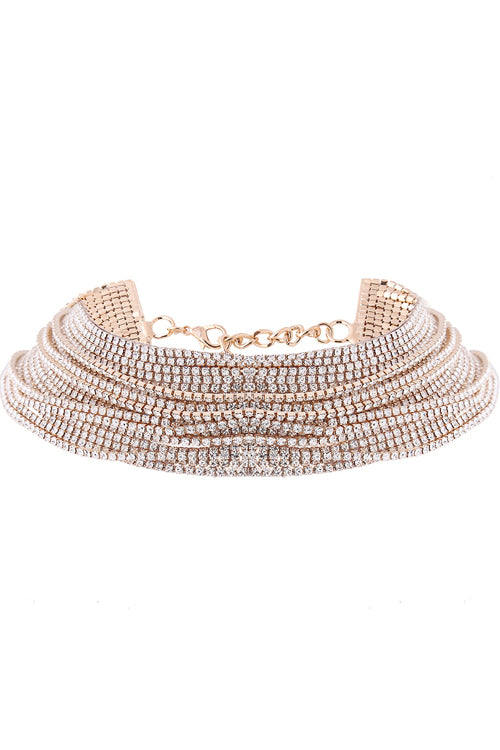 Layered Brilliant Choker