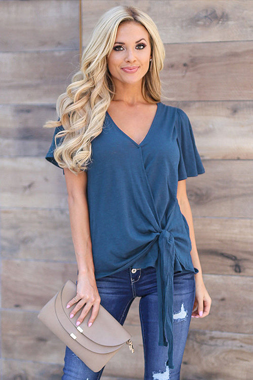 Basics Essential Pure Color V-neck Tee - 2 Colors