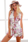 Floral Print Cross-back Romper