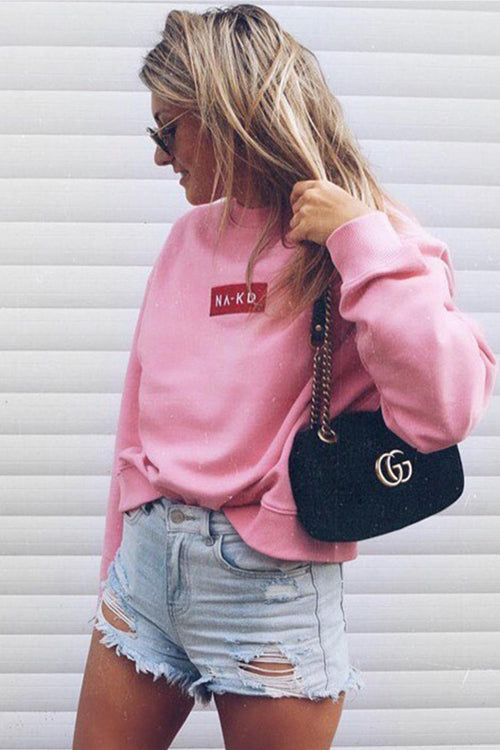 Lovely Pink Print Sweater