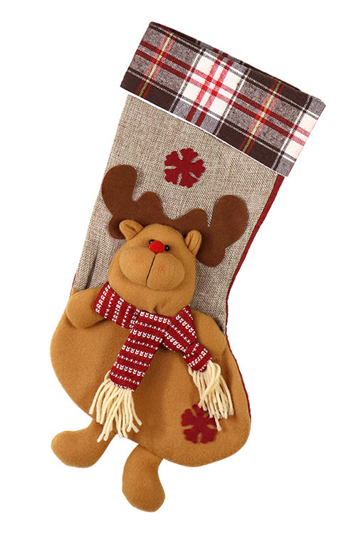 Tartan Christmas Candy Bag Socks