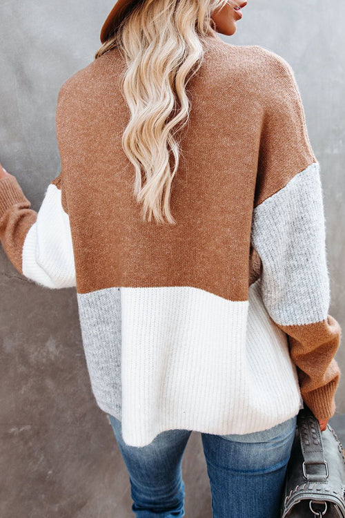 Stay Comfy High-Neck Knit Sweater