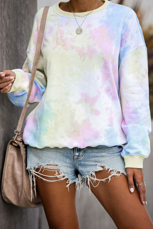 Sunset Glow Dye Long Sleeve Pullover