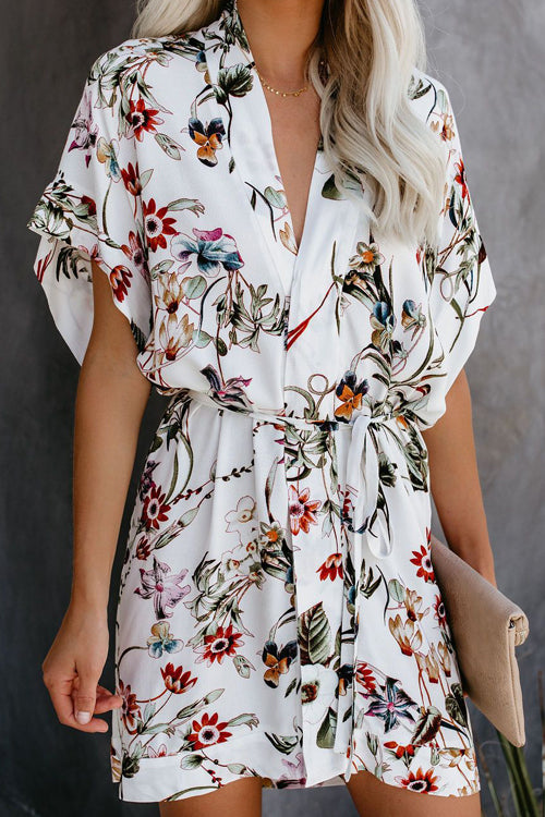 Lifetime of Love White Floral Print Dress