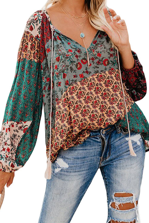 Vacation Ready Boho Print Shirt