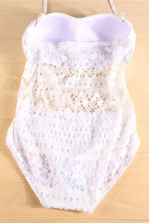 Lace Hollow-out Swimsuit- 2 Colors
