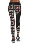 Christmas Black Print Sports Pants